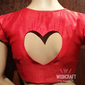 Designer Blouse 143 - Valentines Day Spl - Sweetheart blouse in Red - my Tailor