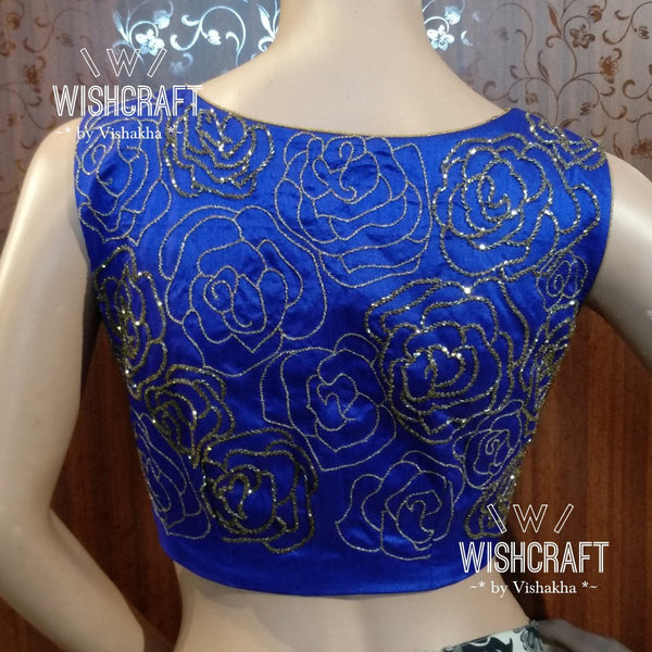 Blouse Design 147 - Trendy crop top in boatneck style