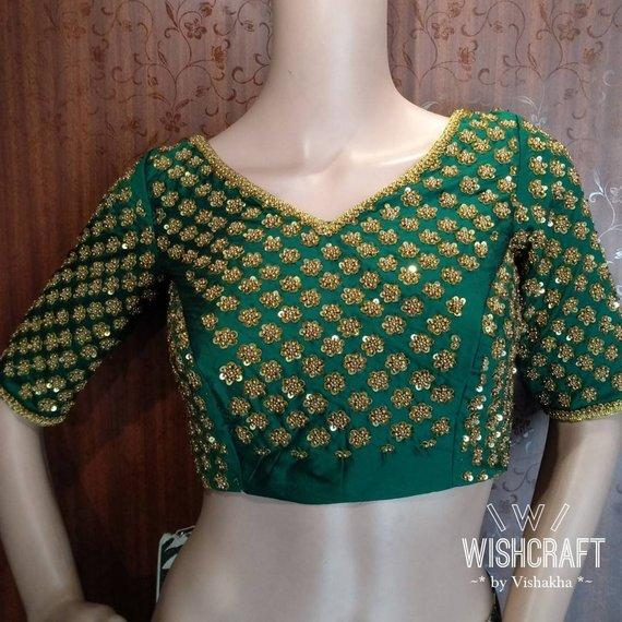 45ed26a9fc0f3e Blouse Design 128 - Saree Blouse with beautiful sequins work ...