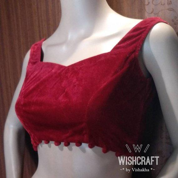 Blouse Design 136 - Gorgeous velvet blouse - sleeveless style