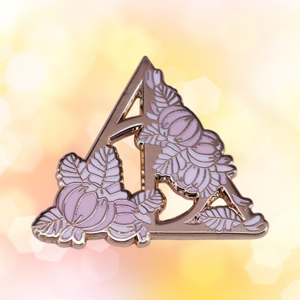 Deathly Hallows Flowers Enamel Pin