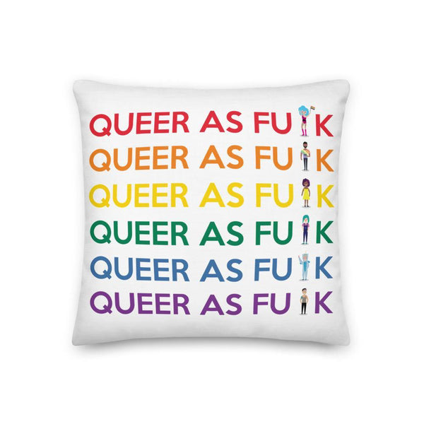 Queer As F#ck Premium Pillow - Queer In The World: The Store