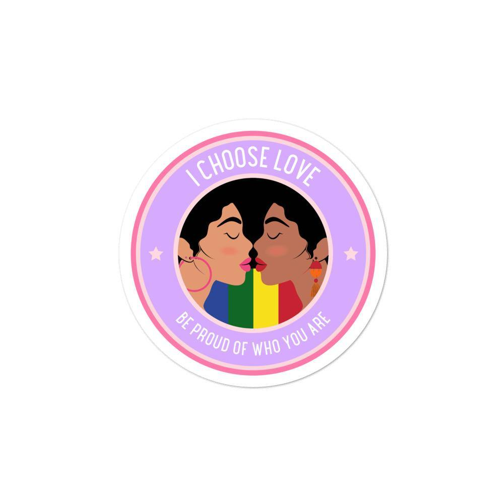 I Choose Love Bubble-Free Stickers - Queer In The World: The Store