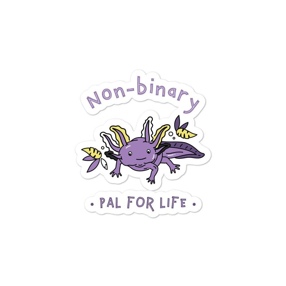 Non-Binary Pal For Life Bubble-Free Stickers - Queer In The World: The Store