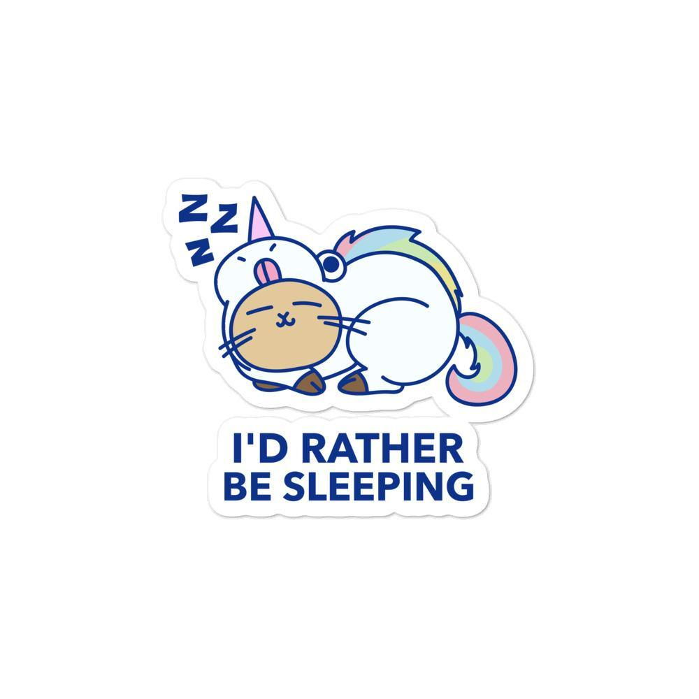 I'd Rather Be Sleeping Bubble-Free Stickers - Queer In The World: The Store