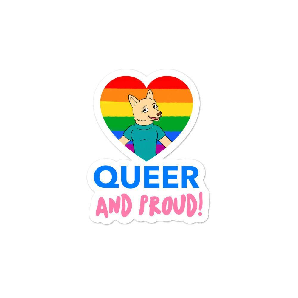 Queer & Proud Bubble-Free Stickers - Queer In The World: The Store