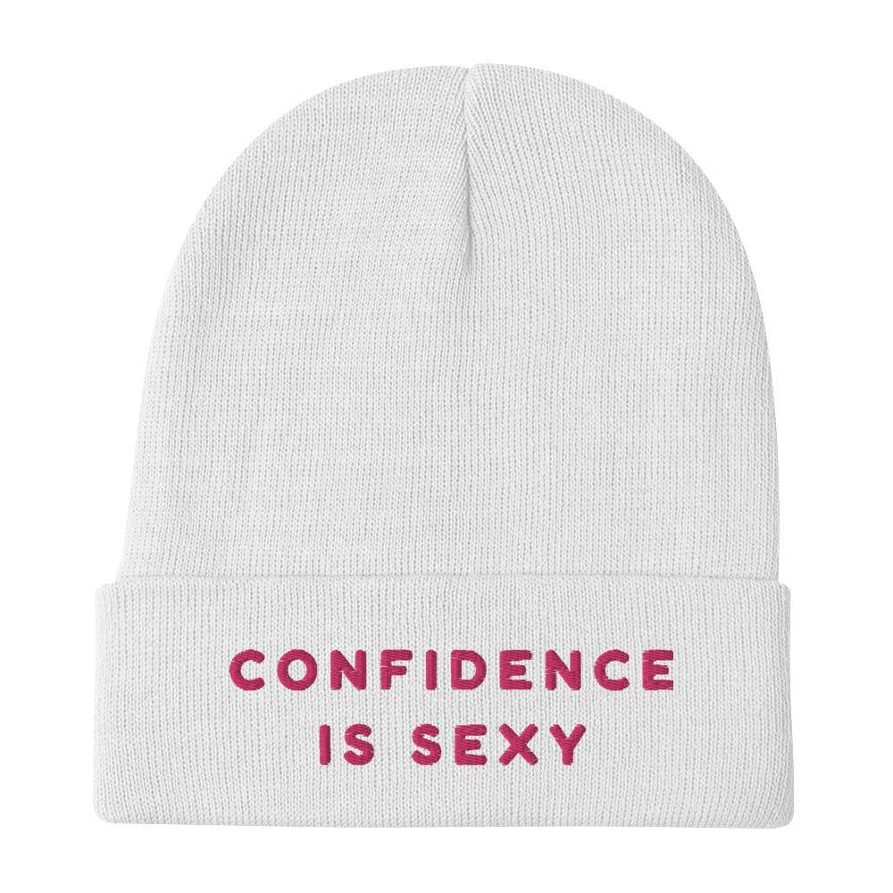 Confidence Is Sexy Embroidered Beanie - Queer In The World: The Store