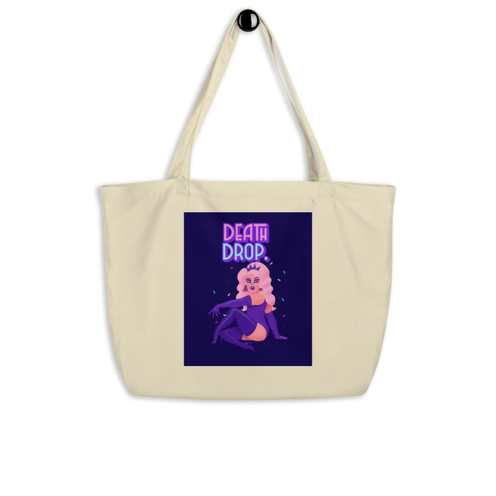 Death Drop Large Organic Tote Bag