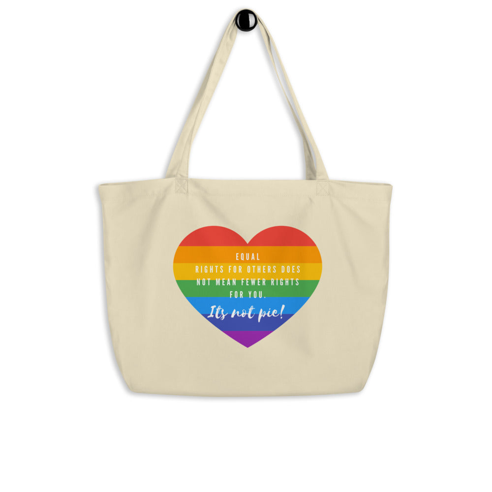 It's Not Pie Large Organic Tote Bag