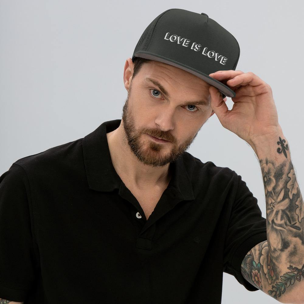 Love Is Love Mesh Back Snapback - Queer In The World: The Store