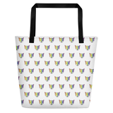Rainbow Fox Allover Print Beach Bag