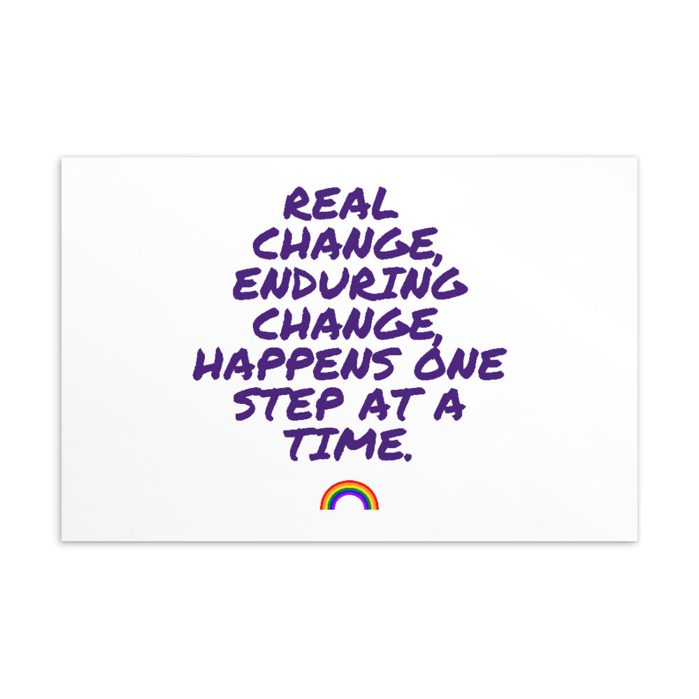 Real Change, Enduring Change Postcard