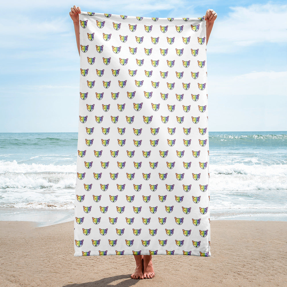Rainbow Fox Towel