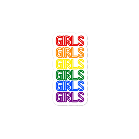 GIRLS GIRLS GIRLS GIRLS GIRLS GIRLS Bubble-free stickers