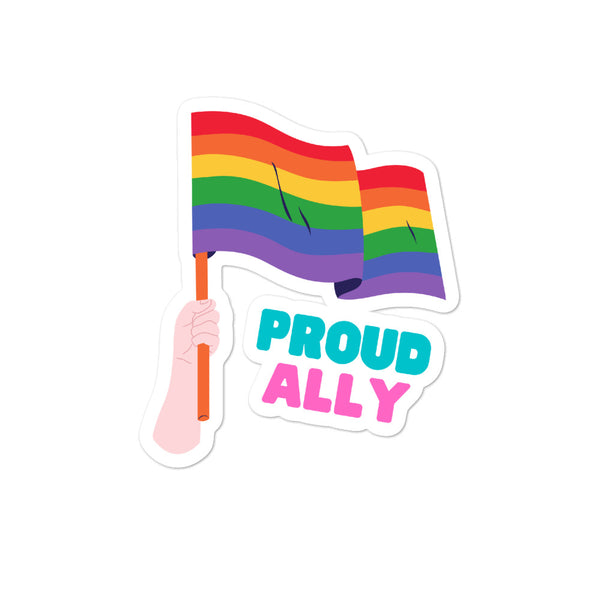 Proud Ally Bubble-free stickers