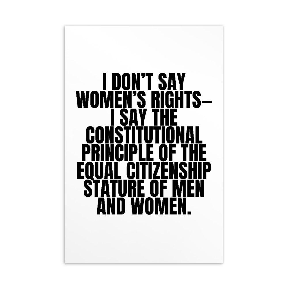 I Don't Say Women's Rights Postcard