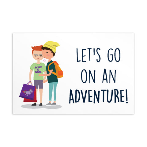 Let's Go On An Adventure Standard Postcard