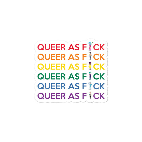 Queer As F#ck Bubble-Free Stickers