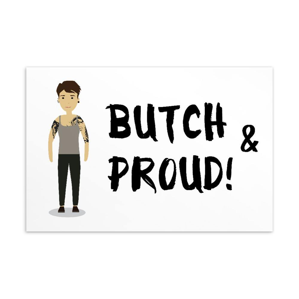 Butch & Proud Postcard - Queer In The World: The Store