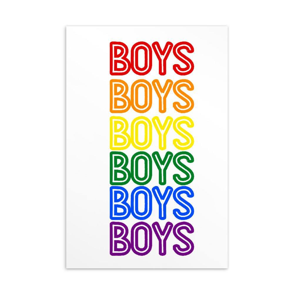 BOYS BOYS BOYS Postcard - Queer In The World: The Store