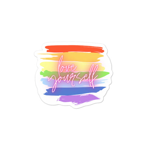 Love Yourself! Bubble-free stickers