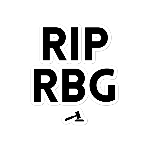 RIP RBG Bubble-free stickers