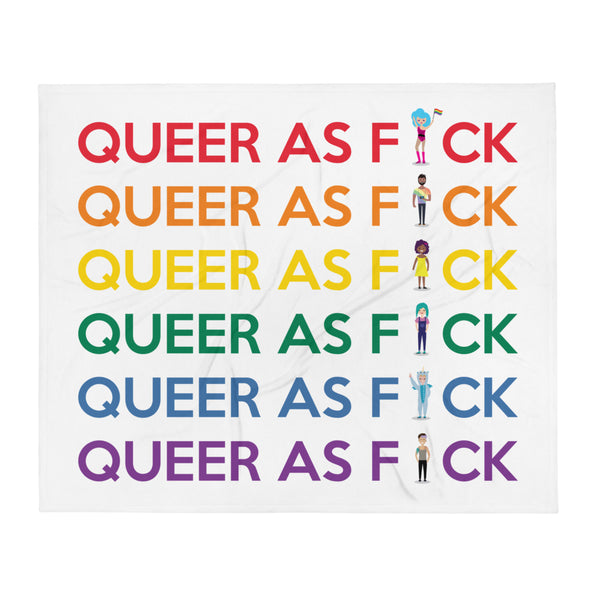 Queer As F#ck Throw Blanket