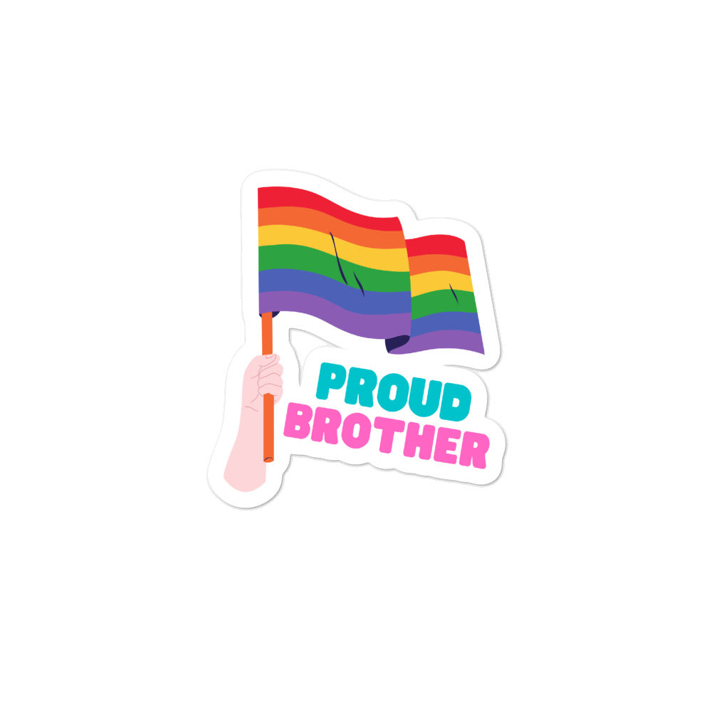 Proud Brother Bubble-Free Stickers