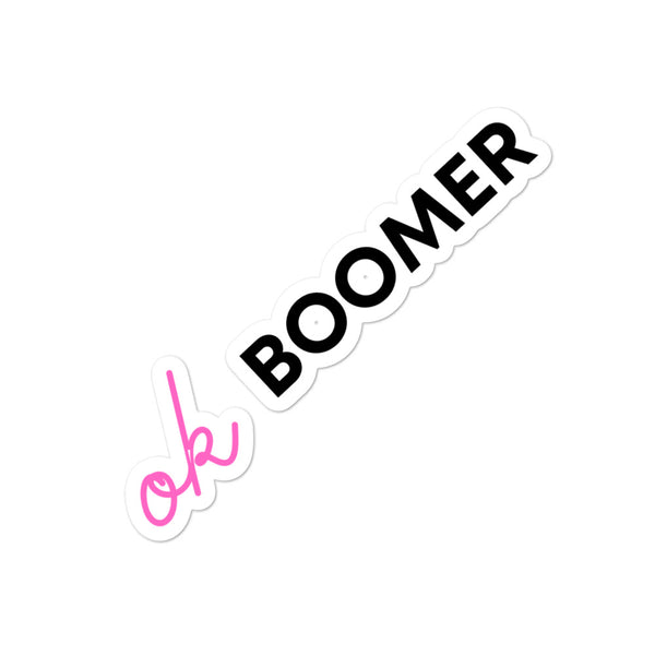 OK Boomer Bubble-free stickers