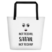 Load image into Gallery viewer, Not Today Satan Beach Bag