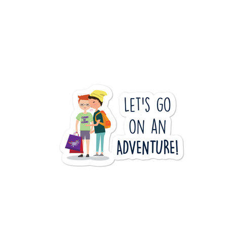 Let's Go On An Adventure Bubble-Free Stickers
