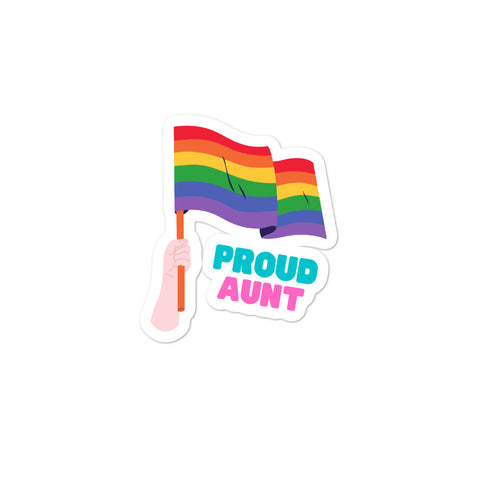 Proud Aunt Bubble-free stickers