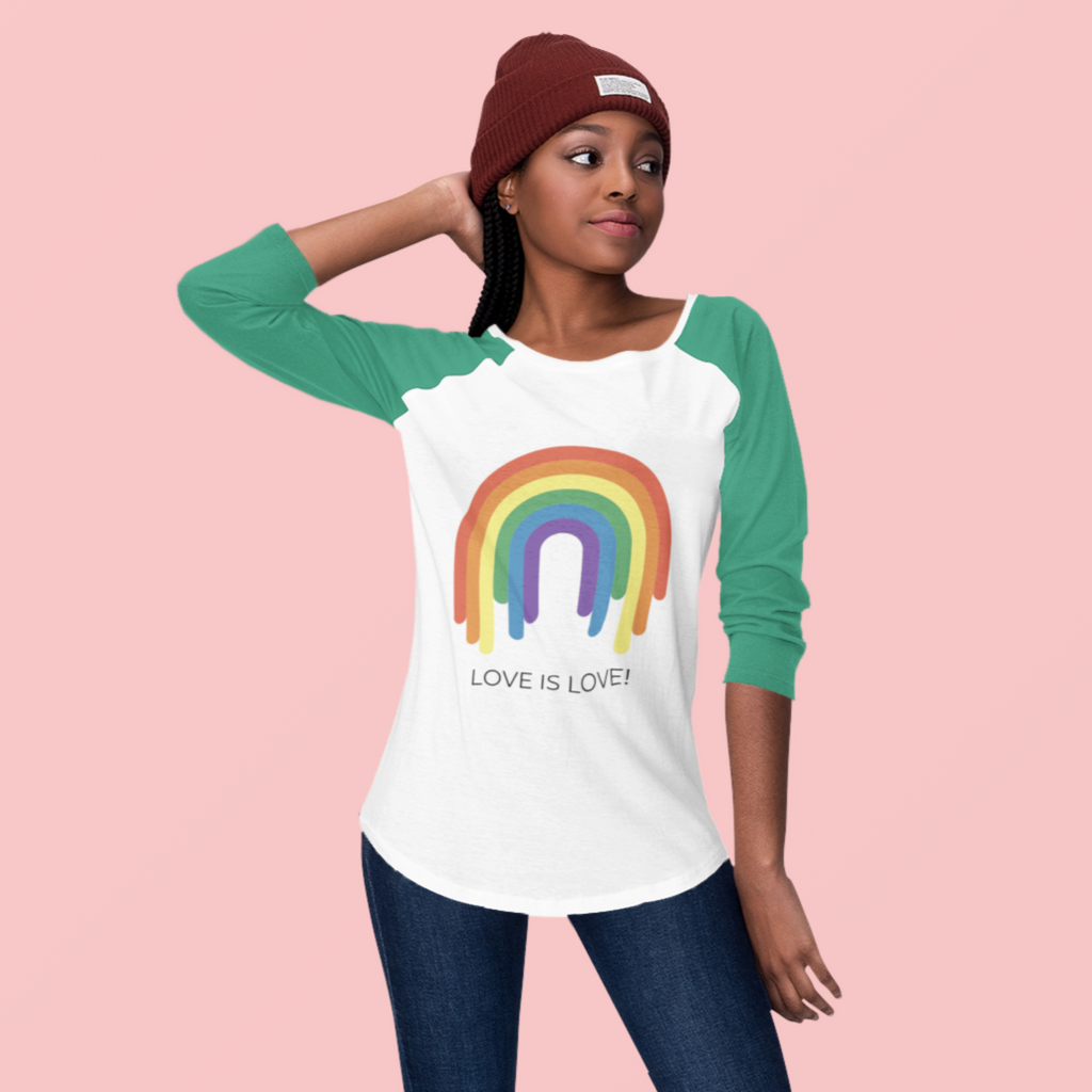 Love Is Love 3/4 Sleeve Raglan Shirt