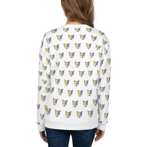 Rainbow Fox Print Unisex Sweatshirt