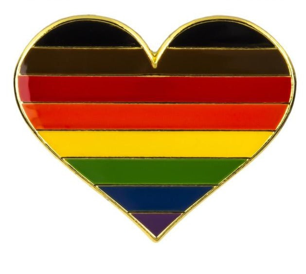 Rainbow Pride Heart Enamel Pin
