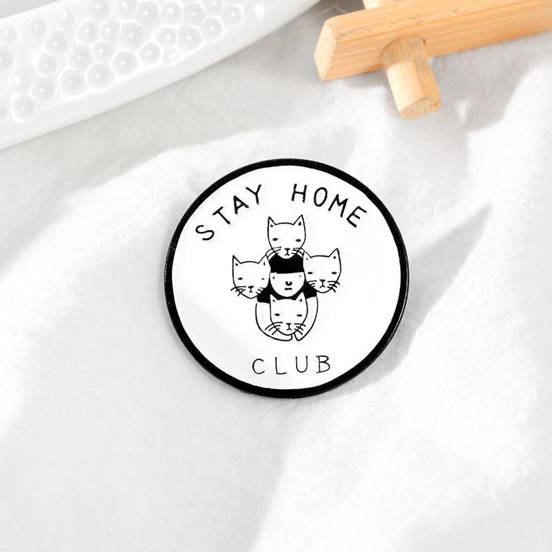 Stay Home Club Enamel Pin - Queer In The World: The Store