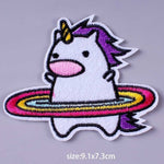 Hula Unicorn Iron On Embroidered Patch
