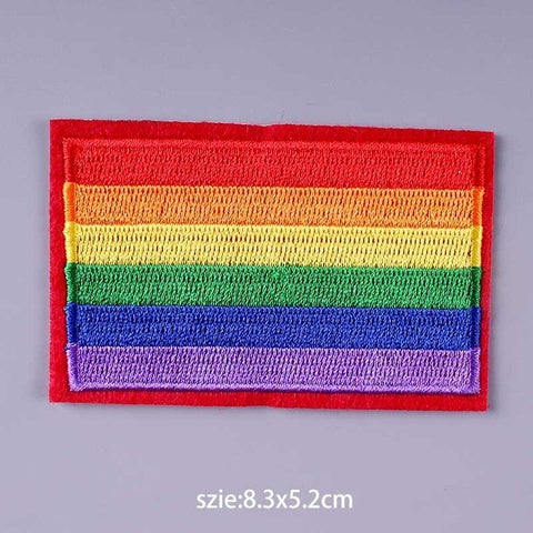 LGBT Pride Flag Iron On Embroidered Patch