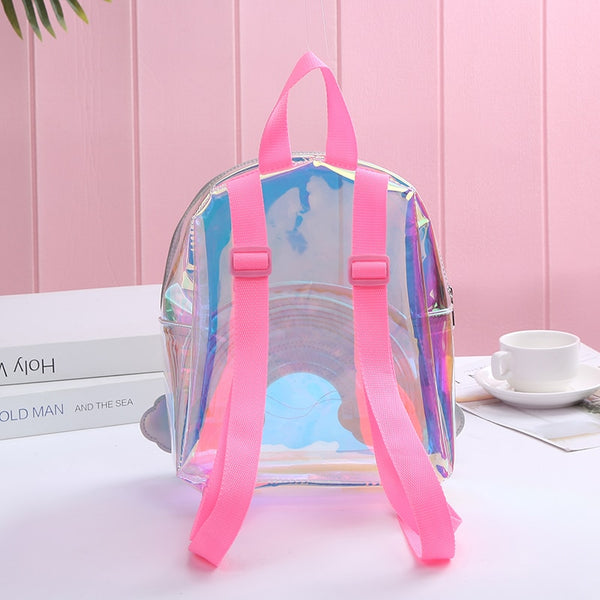 Transparent Rainbow PVC Backpack
