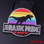 Jurassic Pride Iron On Embroidered Patch