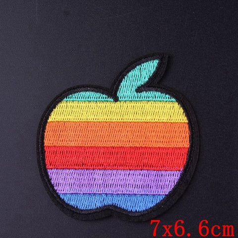LGBT Pride Apple Iron On Embroidered Patch