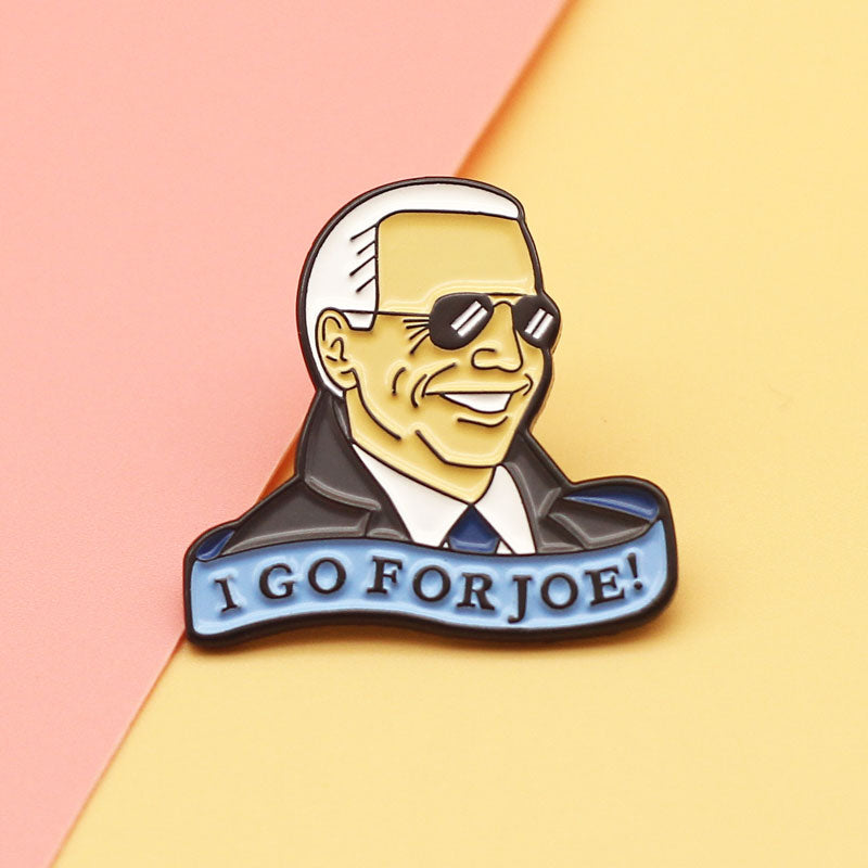 I Go For Joe Enamel Pin