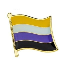 Non-Binary Flag Enamel Pin