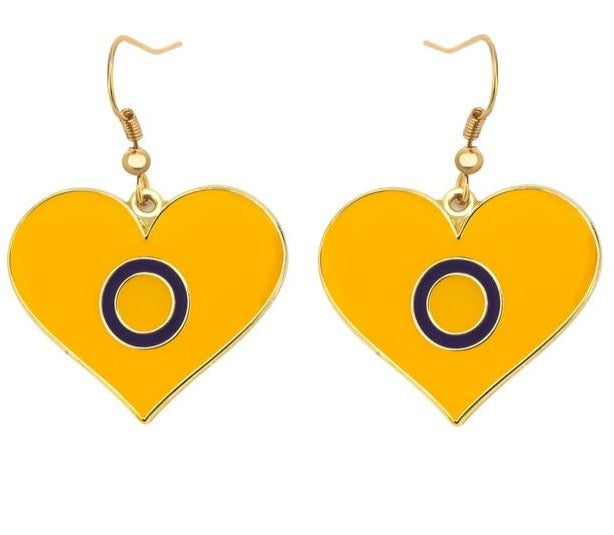 Intersex Heart Earrings