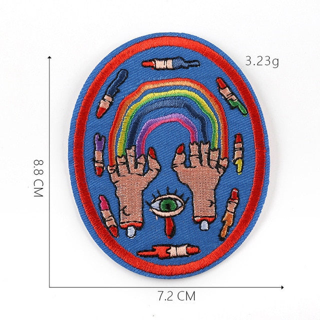 LGBT Nails Iron On Embroidered Patch