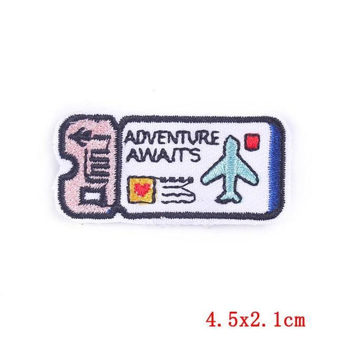 Adventure Awaits Iron On Embroidered Patch