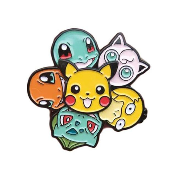 Pokemon Friends Enamel Pin