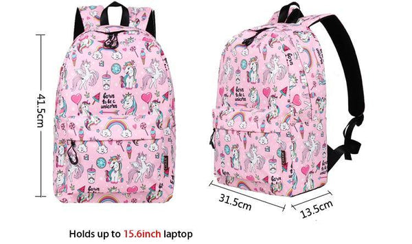 Born To Be A Unicorn Backpack Set (3 Piece)