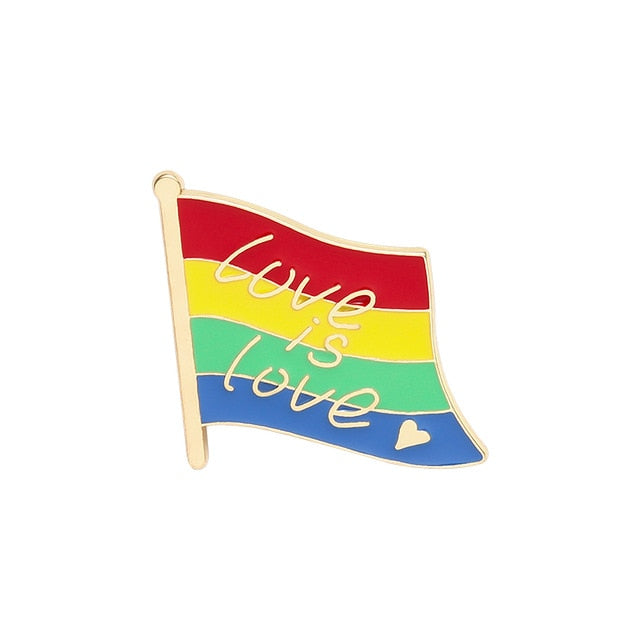 Love Is Love Flag Enamel Pin