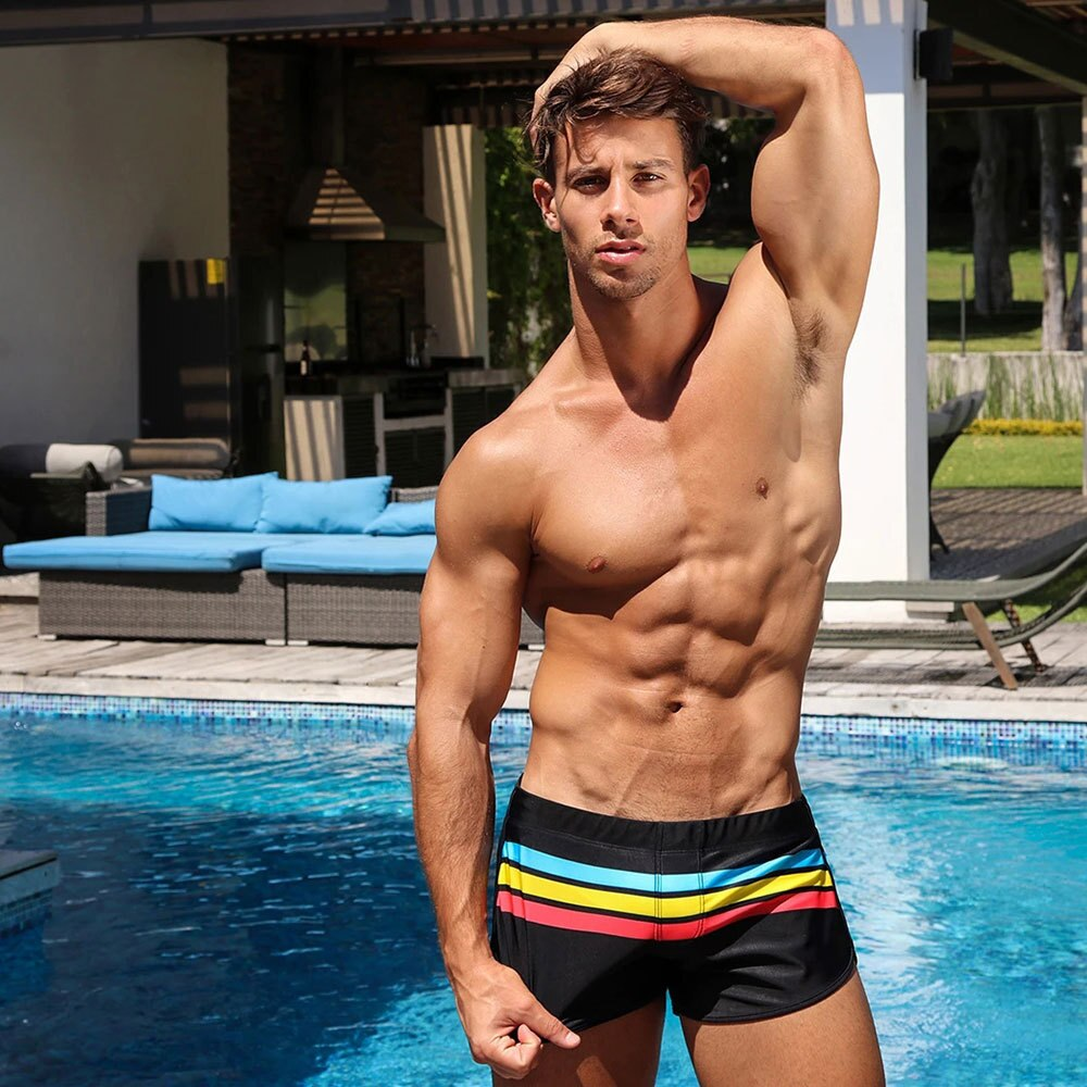 Pride Stripe Swim Trunks